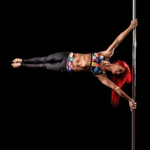 Pole dancer Jess Leanne Norris in Dragonfly Colorama Limited Edition