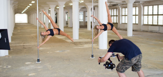 Shooting the Pole Twins Video